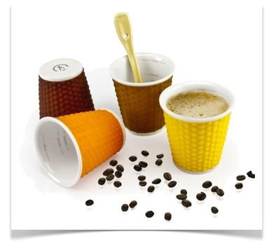 tasse de café muscade porcelaine les artistes