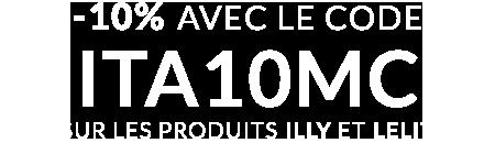 10% de remise avec le code ITALIEDIX sur les produits Illy et Lelit !