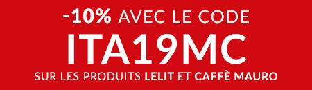 10% de remise avec le code ITA19MC sur les produits des marques Lelit et Caffè Mauro !