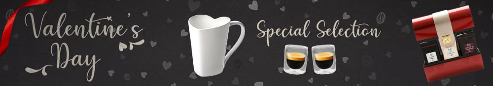 Treat your beloved one with our Valentine's Day selection for coffee and tea lovers