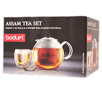 Th i re piston bodum chrom e assam 1 5 l 2 verres - Theiere bodum assam 1 litre ...