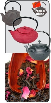 théière en fonte de chine