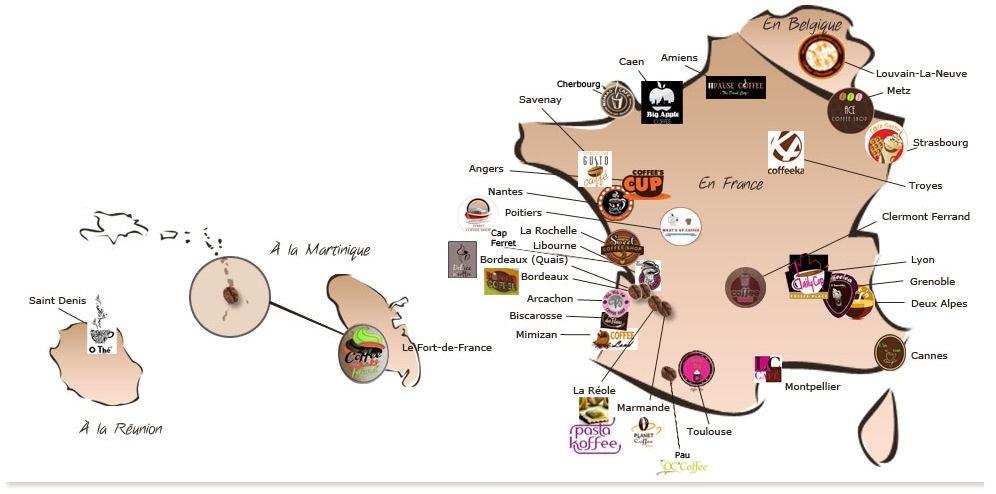 Tous les Coffee Shop en France