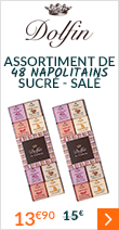Lot de 2 Assortiments 48 Napolitains Gourmands