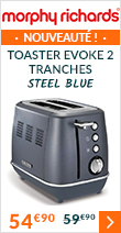 Toaster Evoke 2 tranches Steel Blue - Morphy Richards à 54 euros 90