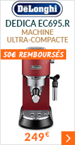 Machine expresso Delonghi Dedica EC695.R Rouge