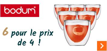 6 verres expresso double-paroi Bodum achetés au prix de 4