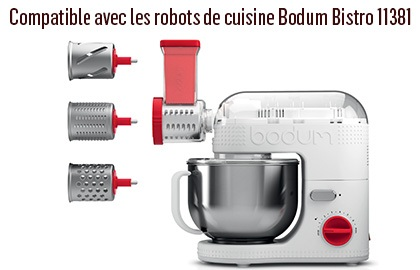 trancheuse broyeur bodum 11515 10 pour robot de cuisine bodum bistro. Black Bedroom Furniture Sets. Home Design Ideas