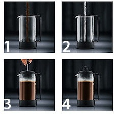Cafeti re piston brazil vert citron 35 cl bodum - Utilisation cafetiere a piston ...