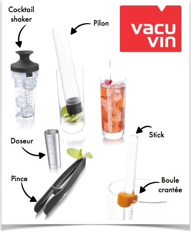 schéma cocktail shaker set vacu vin