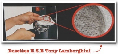 conseil utilisation dosettes ESE Tonino Lamborghini