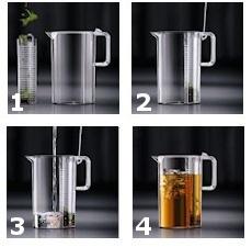 Pichet à thé glacé