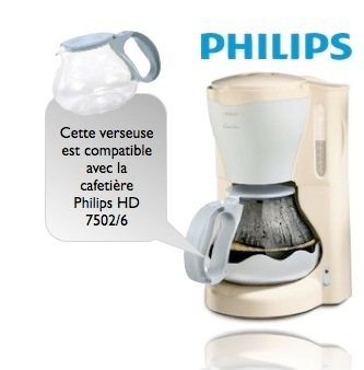 verseuse philips hd 7954 pour cafeti re cucina hd 7502 6. Black Bedroom Furniture Sets. Home Design Ideas