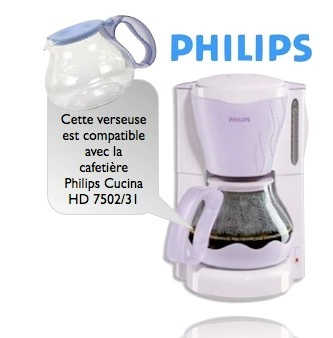 verseuse philips hd 7957 pour cafeti re cucina lilas hd 7502 31. Black Bedroom Furniture Sets. Home Design Ideas